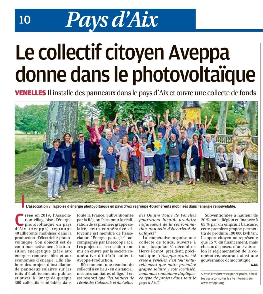 Article La Provence 26-10-20